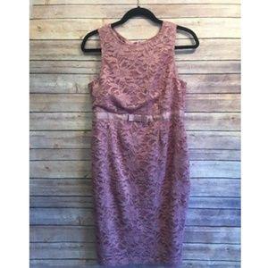 Asos Maternity Dusty Pink Lace Sleeveless Dress